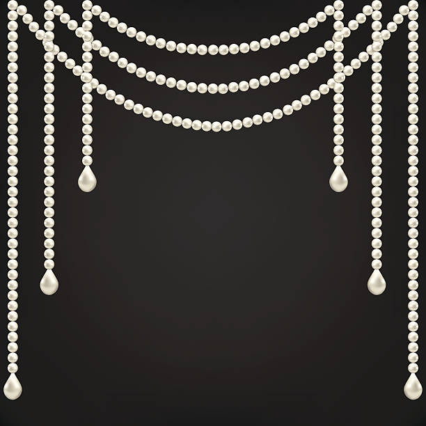 pearl decoration - pearl jewelry stock illustrations, clip art, cartoons, & icons