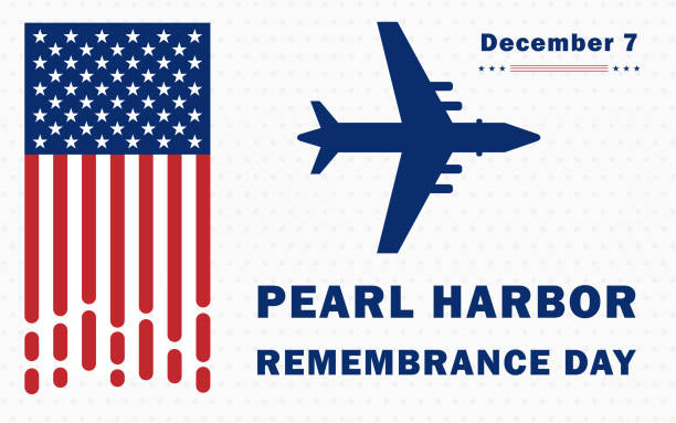 Pearl Harbor Remembrance Day National Memorial Day on December 7th. Holiday concept, template for background, banner, card, poster with text inscription. Pearl Harbor Remembrance Day National Memorial Day on December 7th. Holiday concept, template for background, banner, card, poster with text inscription. naval base stock illustrations
