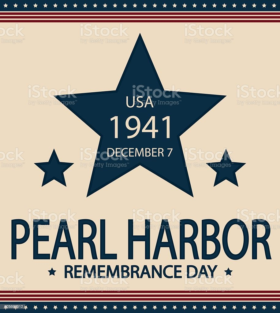Pearl Harbor Remembrance Day Stock Illustration - Download ...