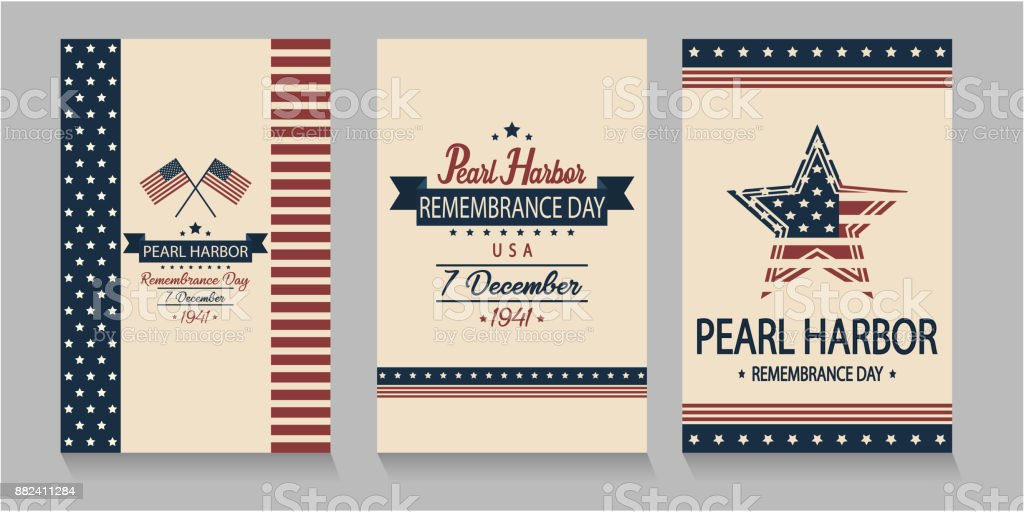 Pearl Harbor vector art illustration