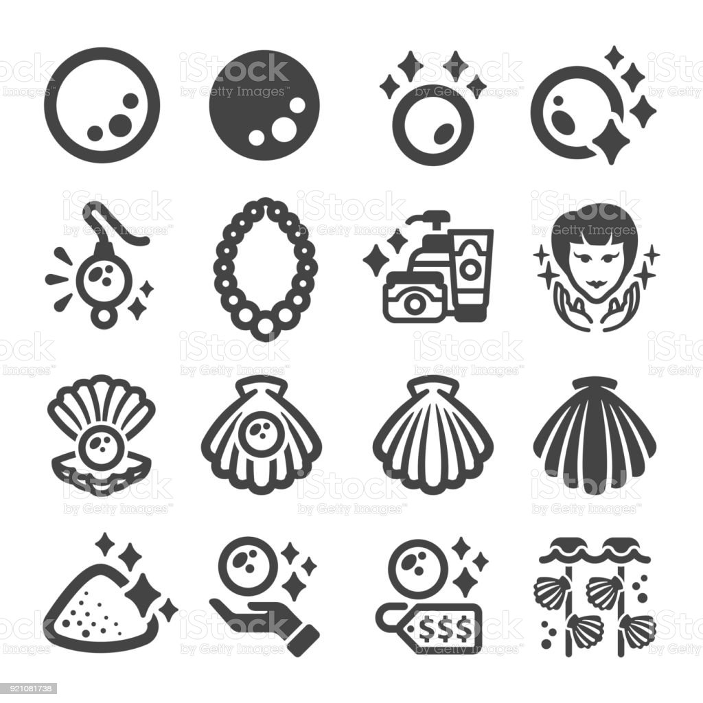 pearl icon vector art illustration