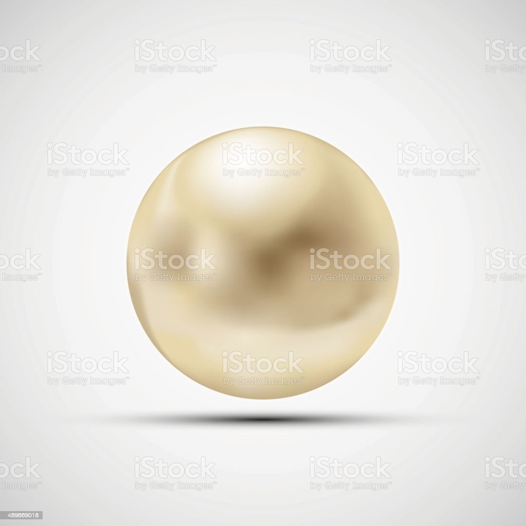 Pearl isolated on a white background. vector art illustration