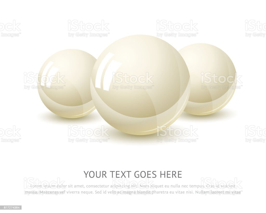 Pearl isolated on white background vector art illustration