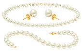 Pearl Jewelry set clip Art