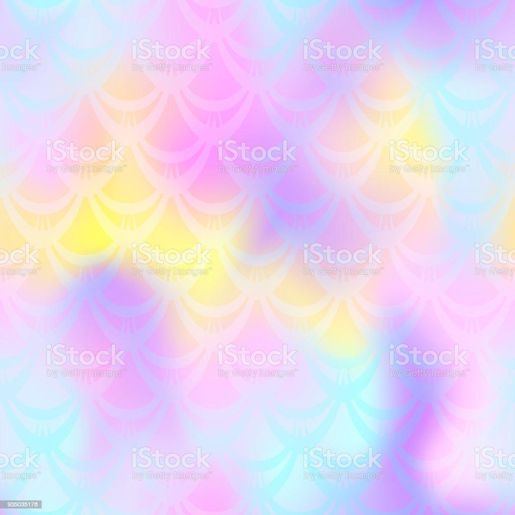 Pearl mermaid vector background. Pastel pink blue iridescent background. vector art illustration