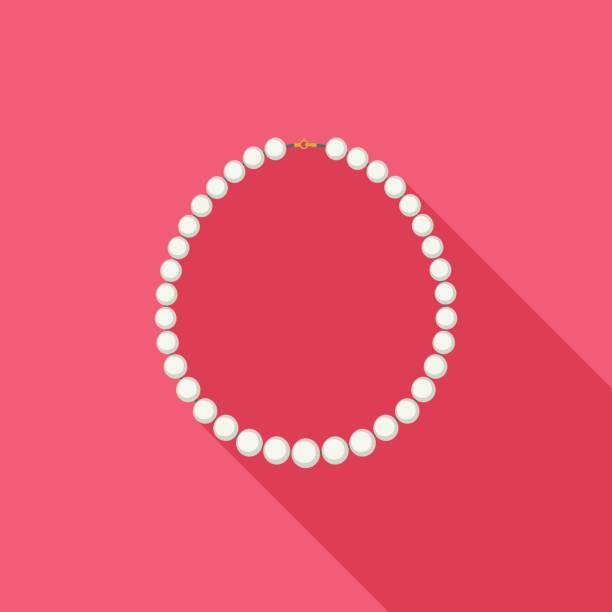 pearl necklace - pearl jewelry stock illustrations, clip art, cartoons, & icons