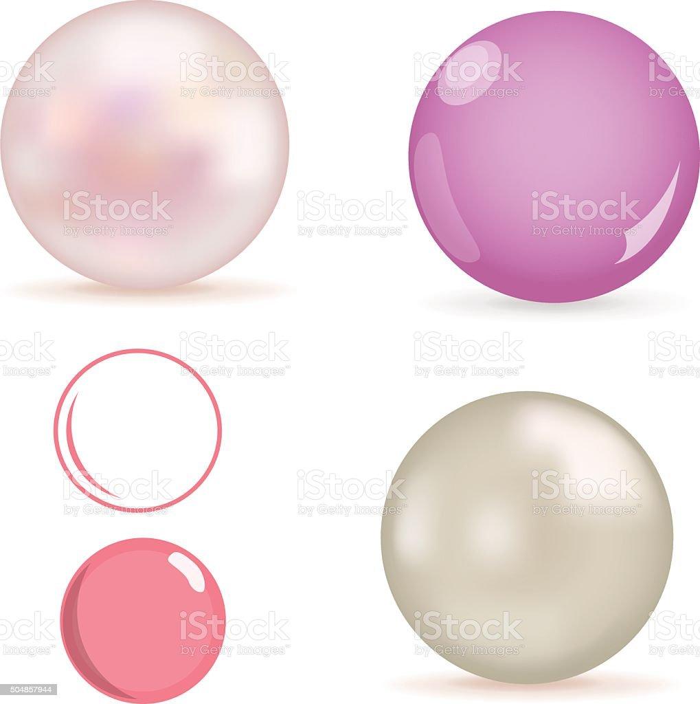 Pearls vector art illustration