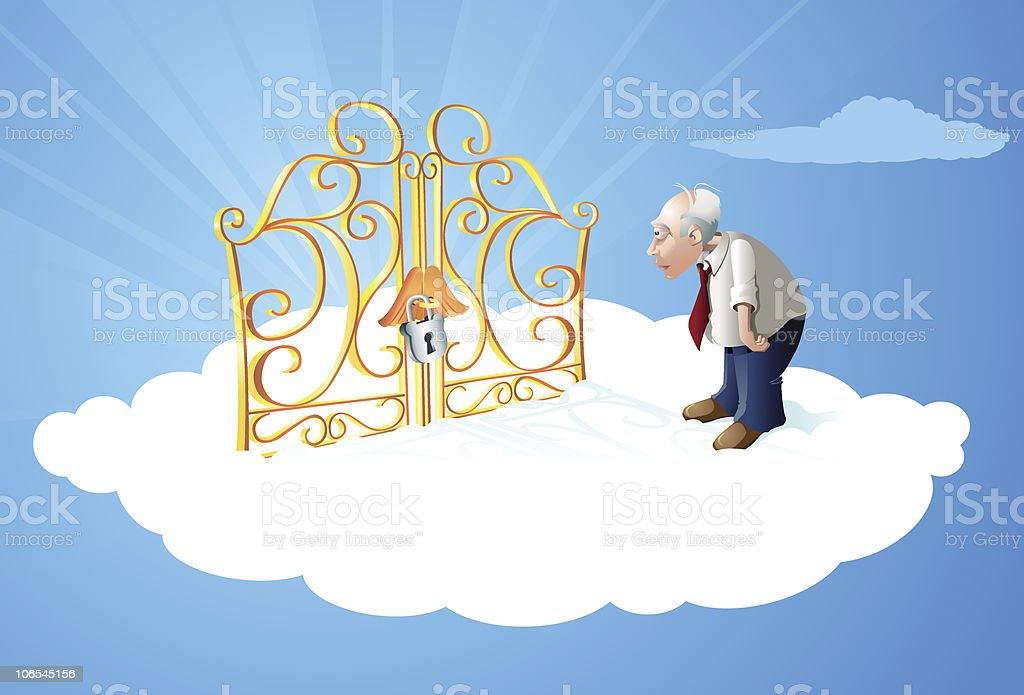 Pearly Gates of Heaven vector art illustration