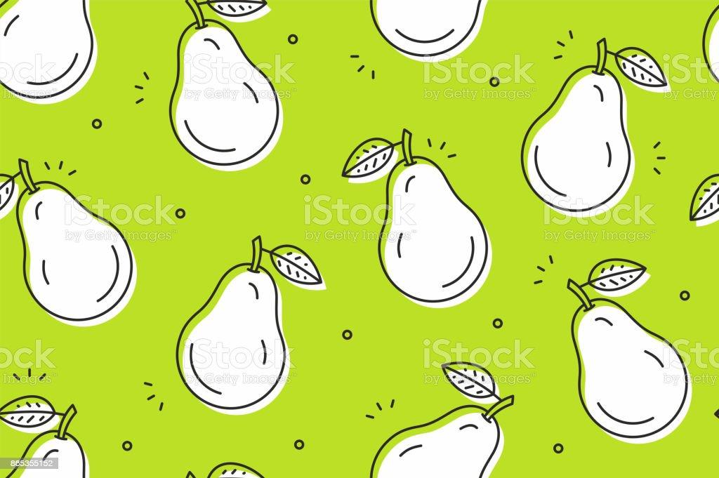 Birnen Musterdesign. Vektor-illustration – Vektorgrafik