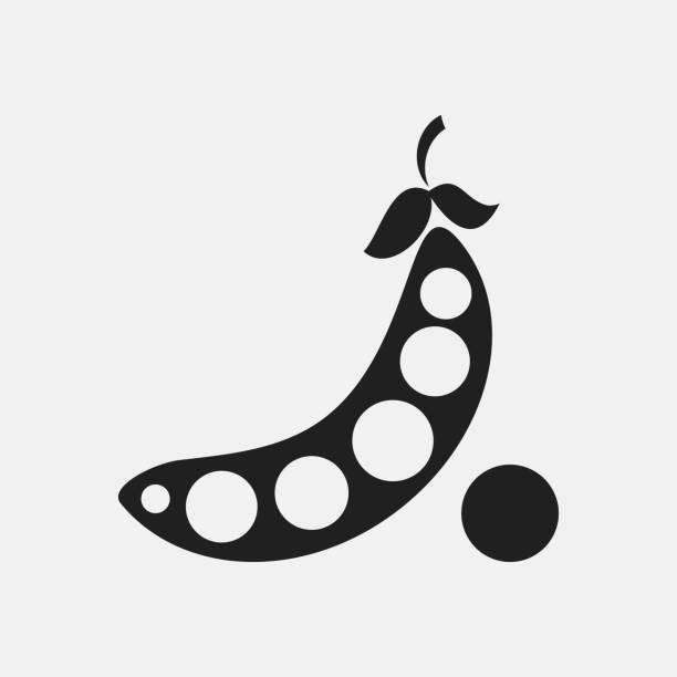 エンドウ豆アイコン イラスト - 枝豆点のイラスト素材/クリップアート素材/マンガ素材/アイコン素材