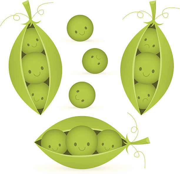 peas in a pod set - like two peas in a pod stock illustrations, clip art, cartoons, & icons