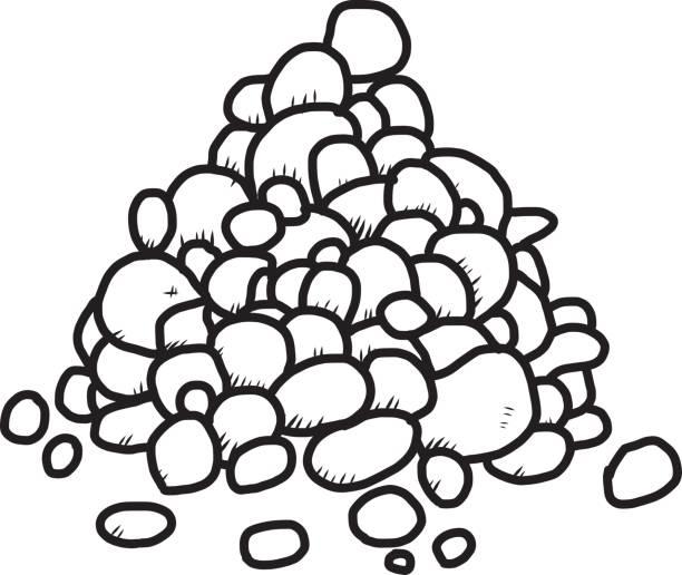 pebble - pebbles stock illustrations, clip art, cartoons, & icons