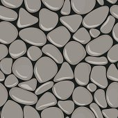 Pebbles seamless pattern.