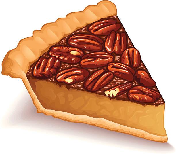 Pecan Pie vector art illustration