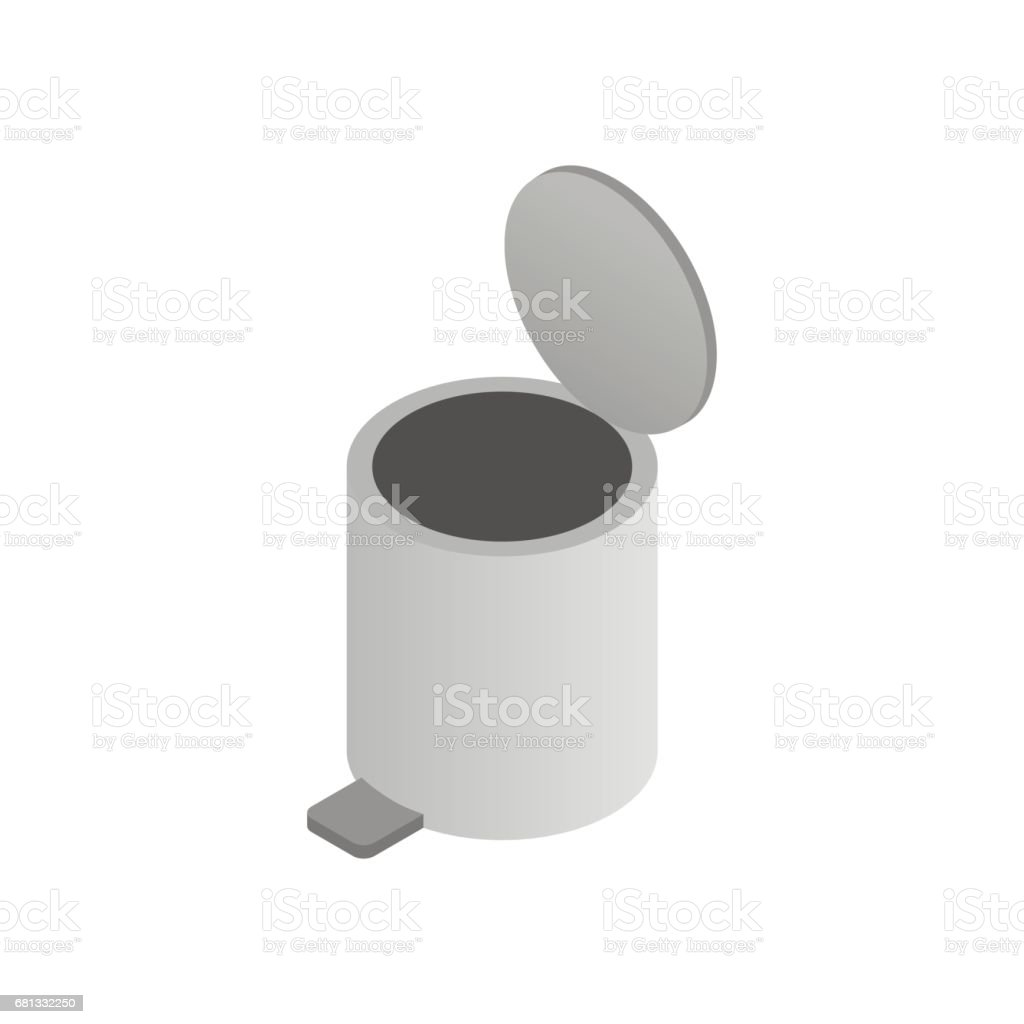 Pedal dust bin icon, isometric 3d style royalty-free pedal dust bin icon isometric 3d style stock vector art & more images of basket
