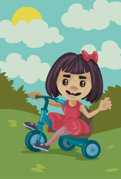 Pedal for fun vector art illustration