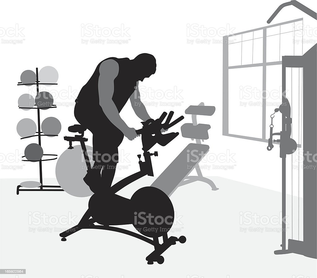 Pedal Pushing Vector Silhouette royalty-free stock vector art