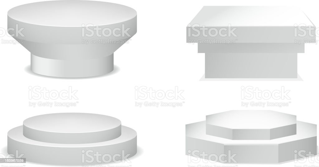 Pedestal Set royalty-free stock vector art