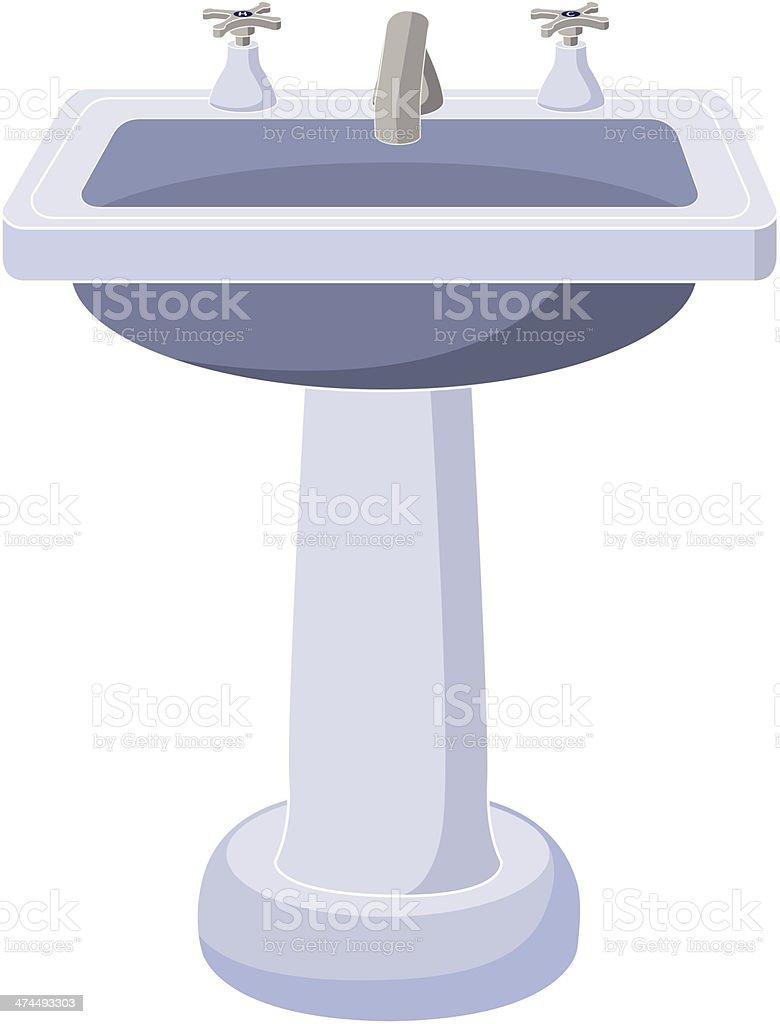 Pedestal Sink Stock Vector Art  for bathroom sink clipart  55nar