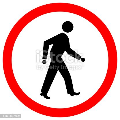 Pedestrian Crossing Road Sign Isolate On White Background,Vector Illustration EPS.10