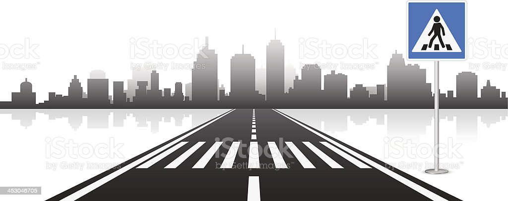 Pedestrian Crossing vector art illustration