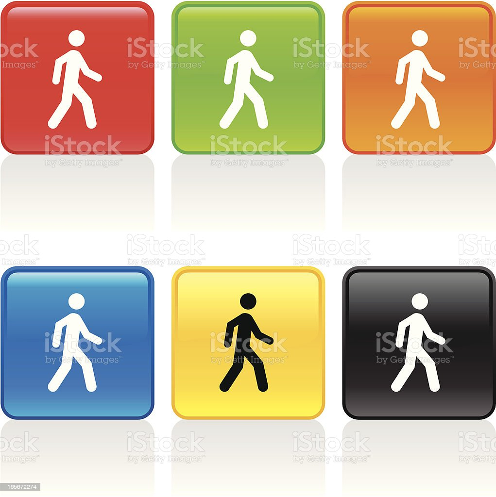 Pedestrian Icon royalty-free pedestrian icon stock vector art & more images of blue