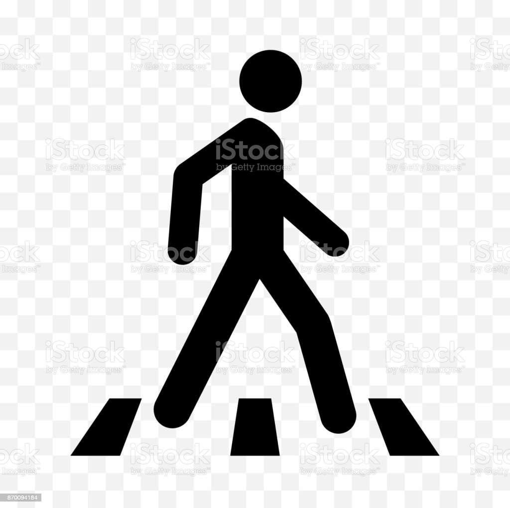 pedestrian icon vector art illustration