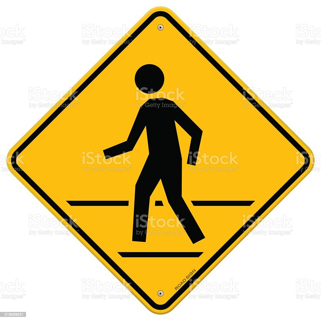 Pedestrian Traffic Sign vector art illustration