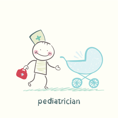 pediatrician came to a sick child