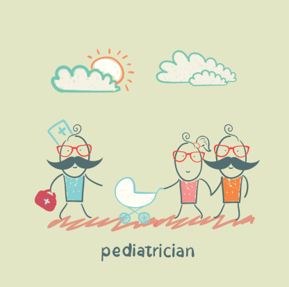 pediatrician came to the sick child