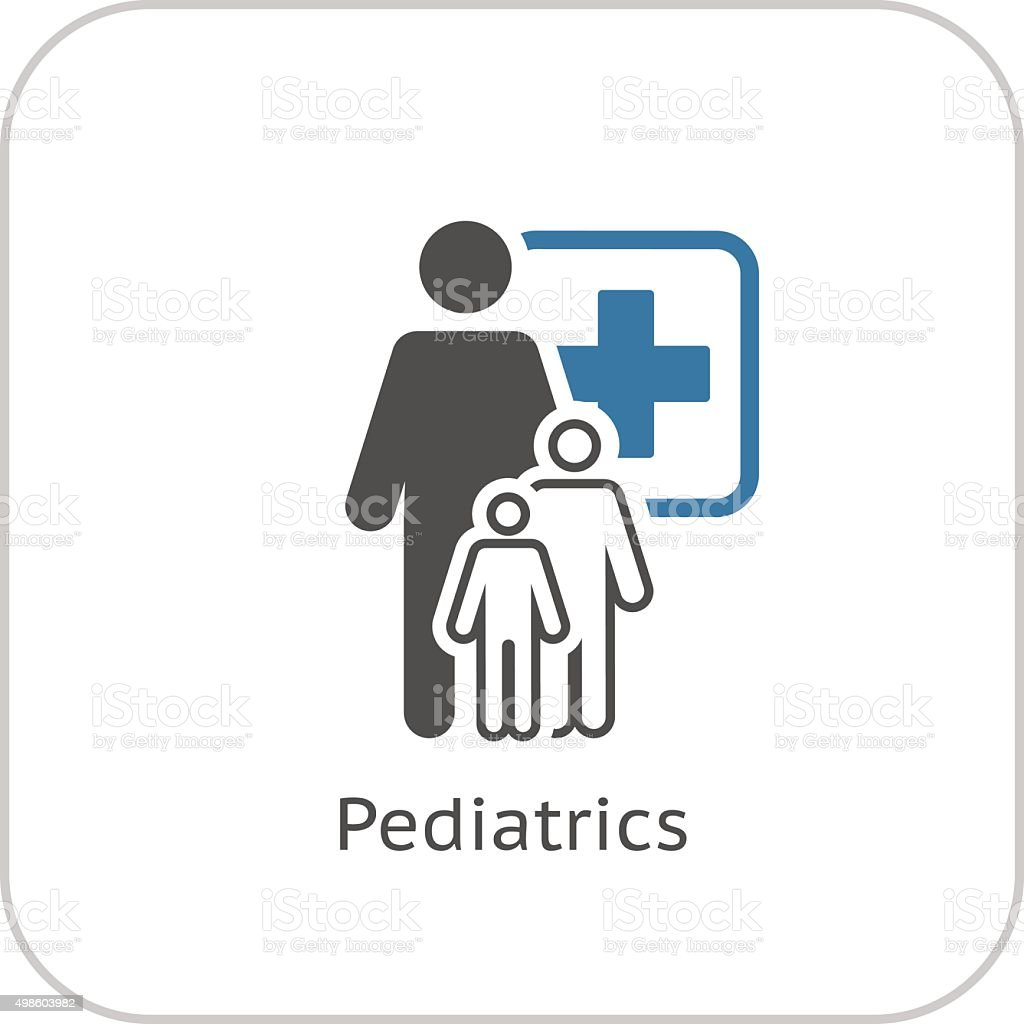Pediatrics and Medical Services Icon. Flat Design. vector art illustration
