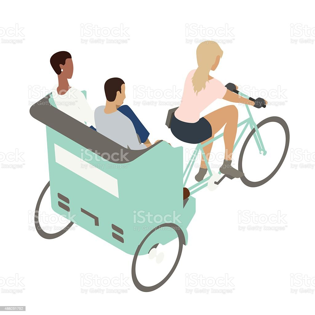 Pedicab illustration vector art illustration