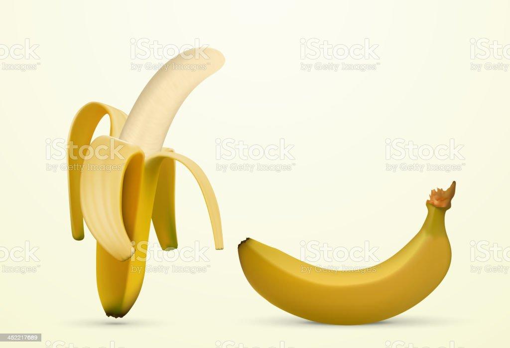 peeled banana royalty-free stock vector art