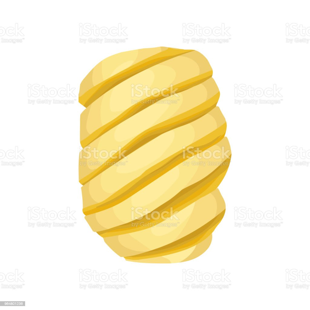 Peeled spiral-shaped pineapple. Sweet tropical fruit. Detailed flat vector element for promo poster or banner royalty-free peeled spiralshaped pineapple sweet tropical fruit detailed flat vector element for promo poster or banner stock vector art & more images of cartoon