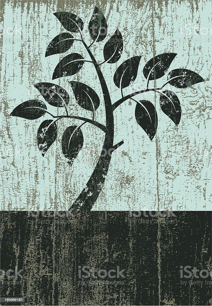 Peeling paint little tree royalty-free stock vector art
