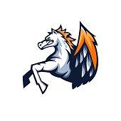 Pegasus athletic club vector logo