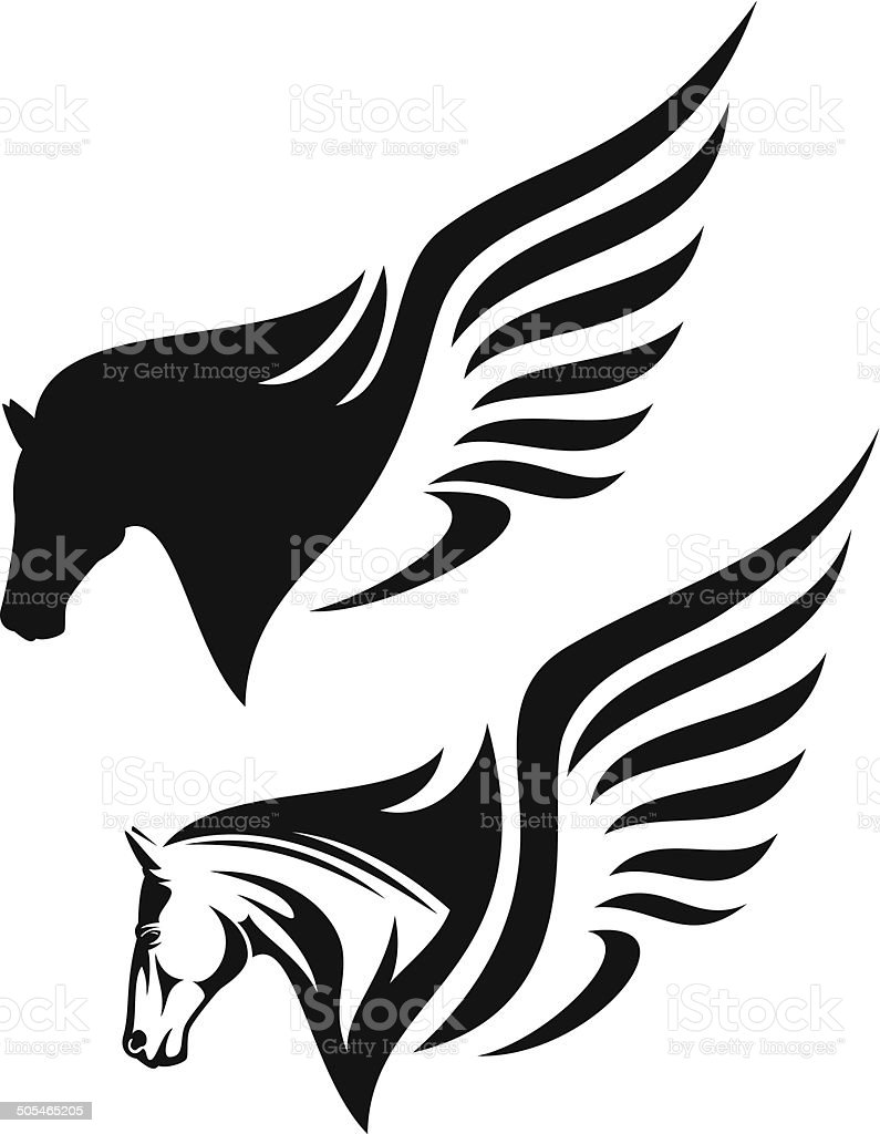 royalty free pegasus clip art vector images illustrations istock rh istockphoto com pegasus clipart pegasus clipart black and white
