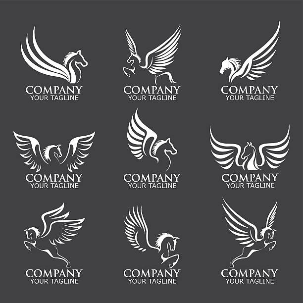 Number 8 Clipart Black And White Royalty Free Pegasus C...