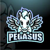 Vector Illustration of Pegasus mascot esport logo design