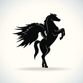 Pegasus silhouette - Vector
