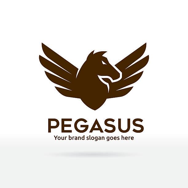 pegasus symbol - pegasus stock illustrations