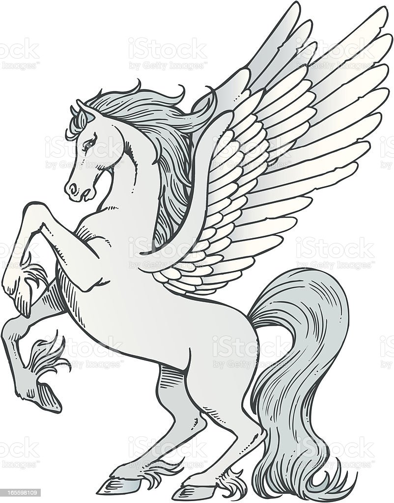 Pegasus royalty-free pegasus stock vector art & more images of animal
