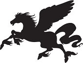 An a vector illustration of Pegasus.
