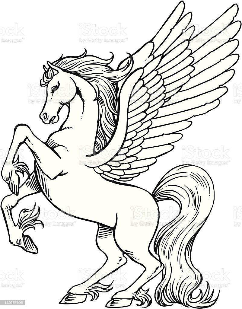 Pegasus royalty-free stock vector art