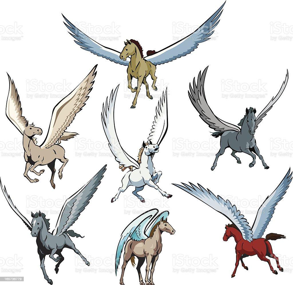 Pegasus royalty-free pegasus stock vector art & more images of animal