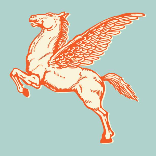 pegasus - pegasus stock illustrations