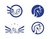 Pegasus Vector Logo Template illustration design