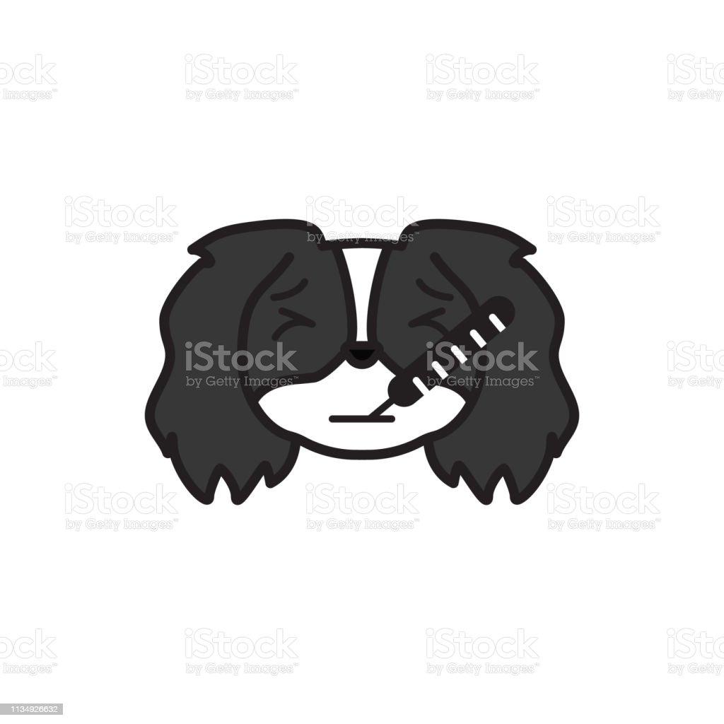 Pekingese Emoji Ill Multicolored Icon Signs And Symbols Icon