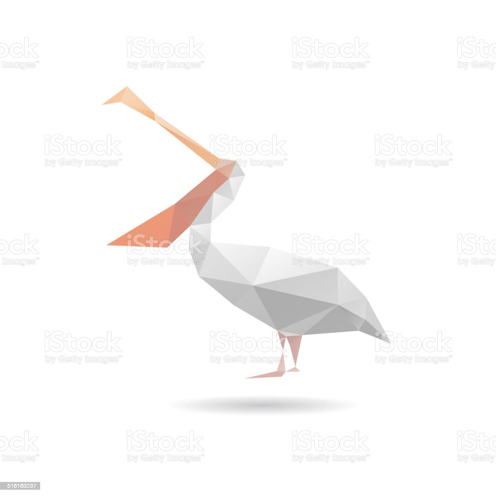Pelican abstract isolated on a white backgrounds, vector illustration vector art illustration