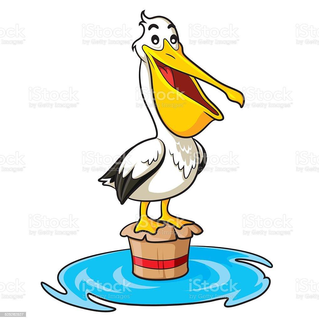 Pelican Cartoon vector art illustration